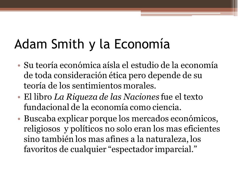 Adam Smith y la Economía