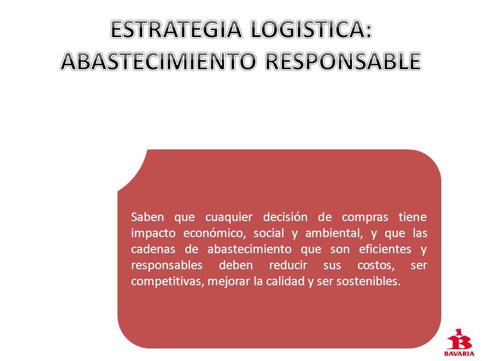 ESTRATEGIA LOGISTICA: ABASTECIMIENTO RESPONSABLE