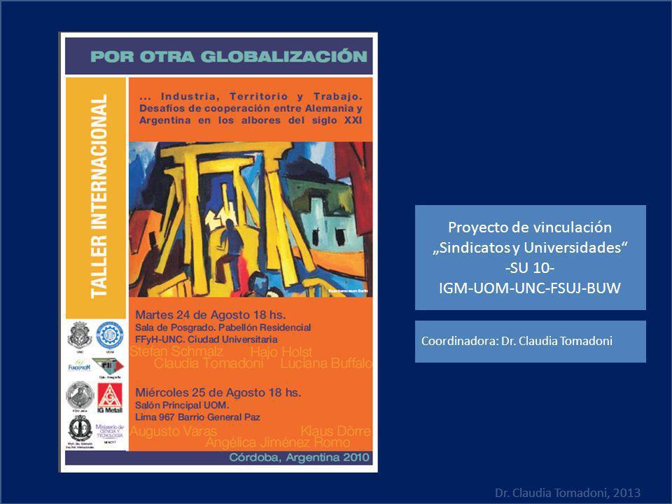 """Proyecto de vinculación """"Sindicatos y Universidades -SU 10-"""