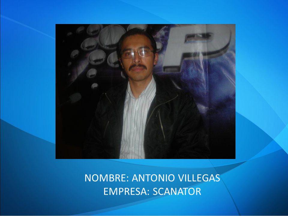 NOMBRE: ANTONIO VILLEGAS