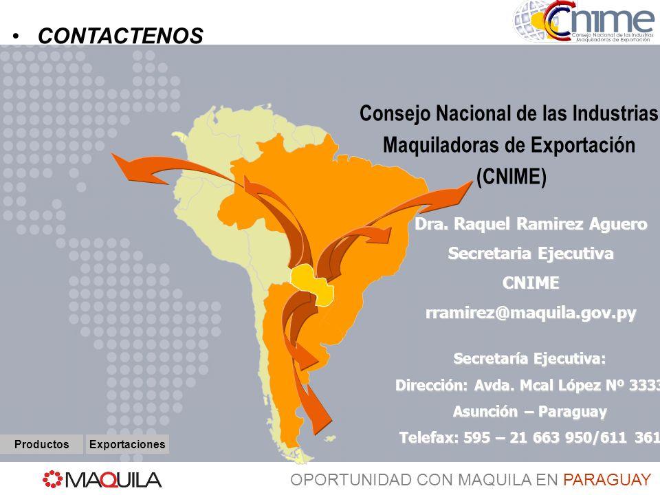 Consejo Nacional de las Industrias Maquiladoras de Exportación (CNIME)