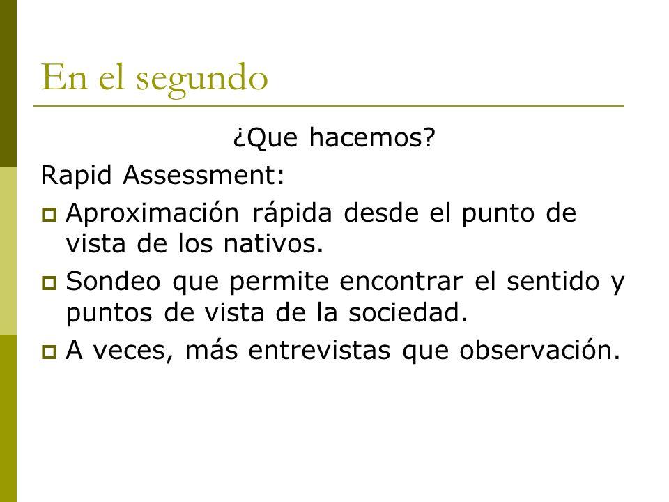 En el segundo ¿Que hacemos Rapid Assessment: