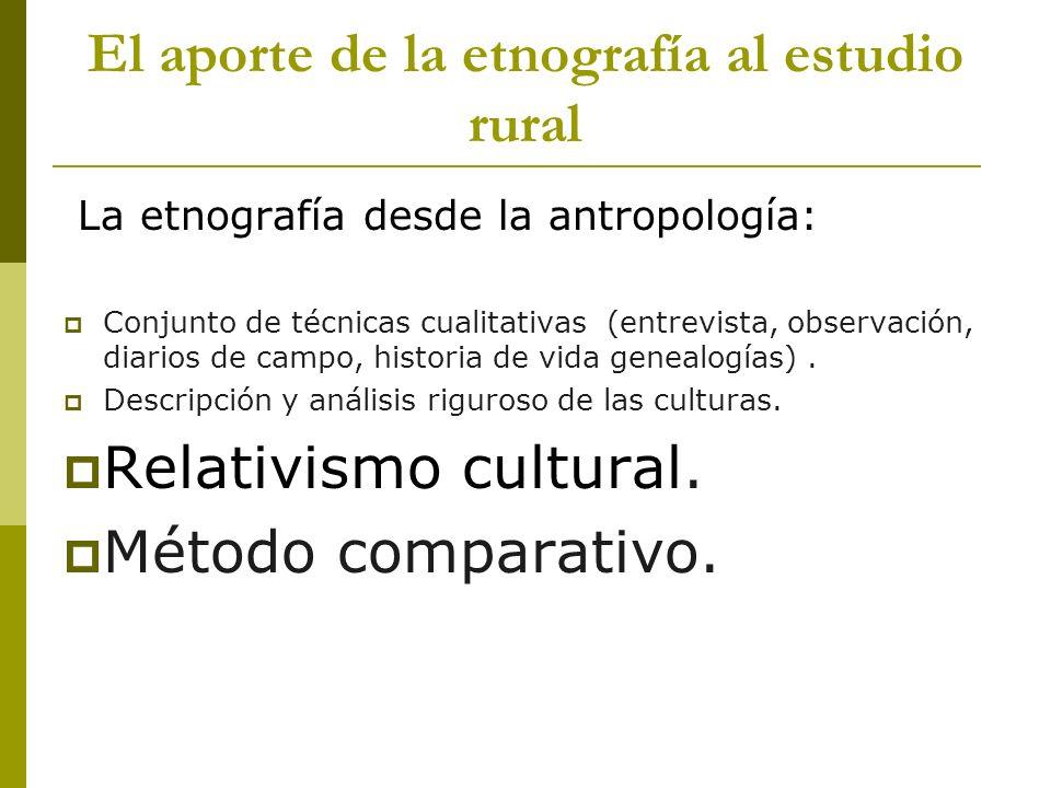 El aporte de la etnografía al estudio rural