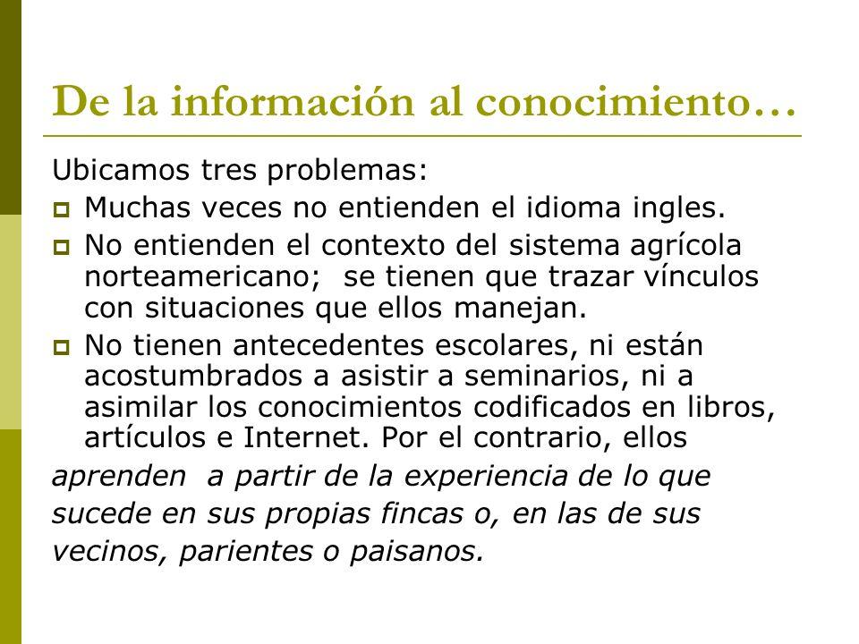 De la información al conocimiento…
