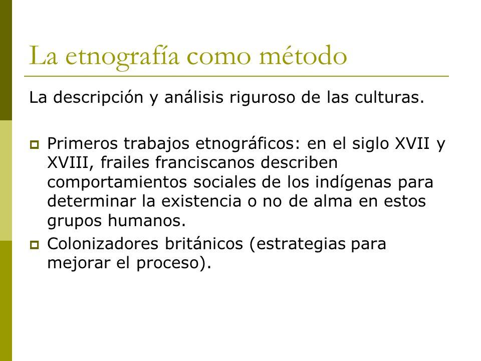 La etnografía como método