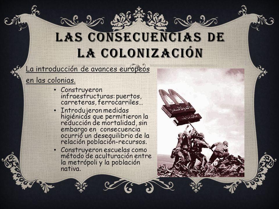 Las consecuencias de la colonización