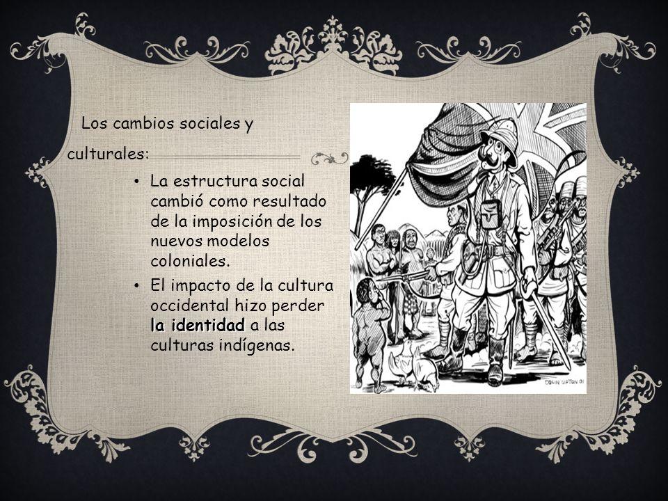 Los cambios sociales y culturales: