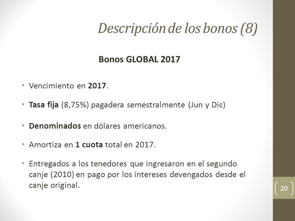 Descripción de los bonos (8)