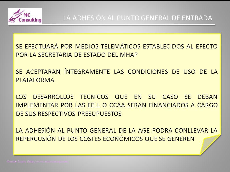 LA ADHESIÓN AL PUNTO GENERAL DE ENTRADA