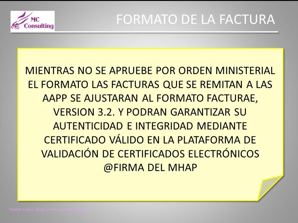FORMATO DE LA FACTURA