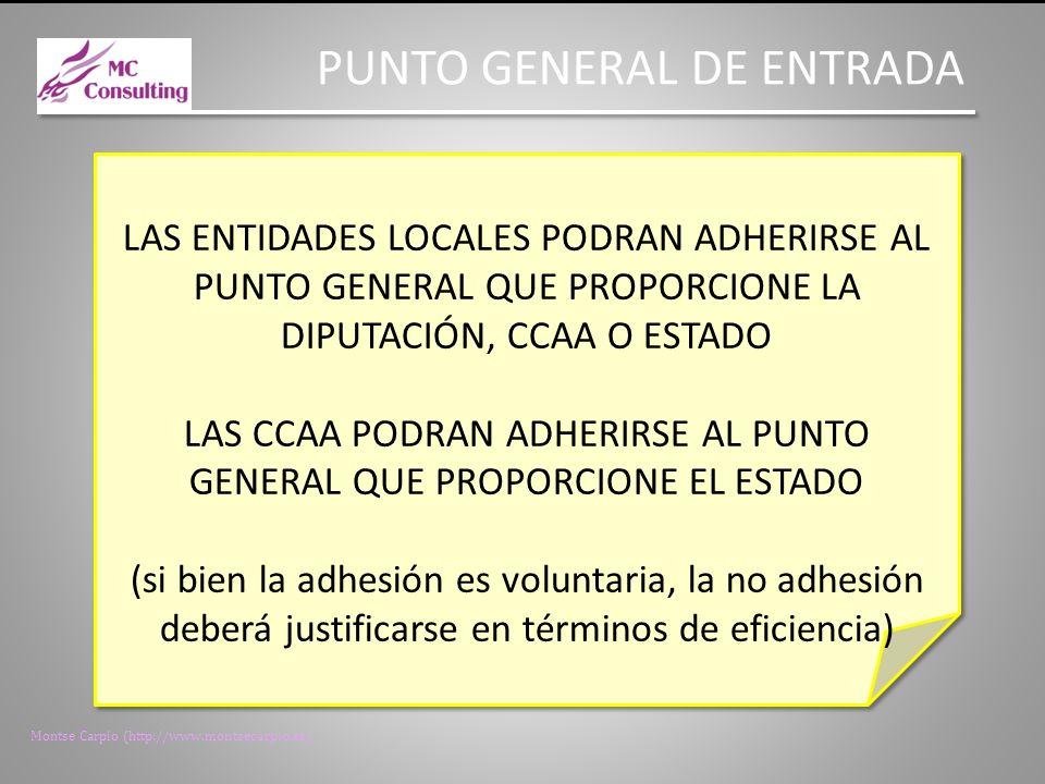 LAS CCAA PODRAN ADHERIRSE AL PUNTO GENERAL QUE PROPORCIONE EL ESTADO