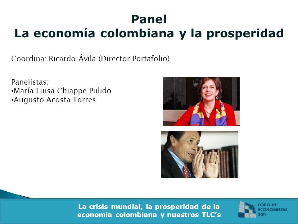 Panel La economía colombiana y la prosperidad