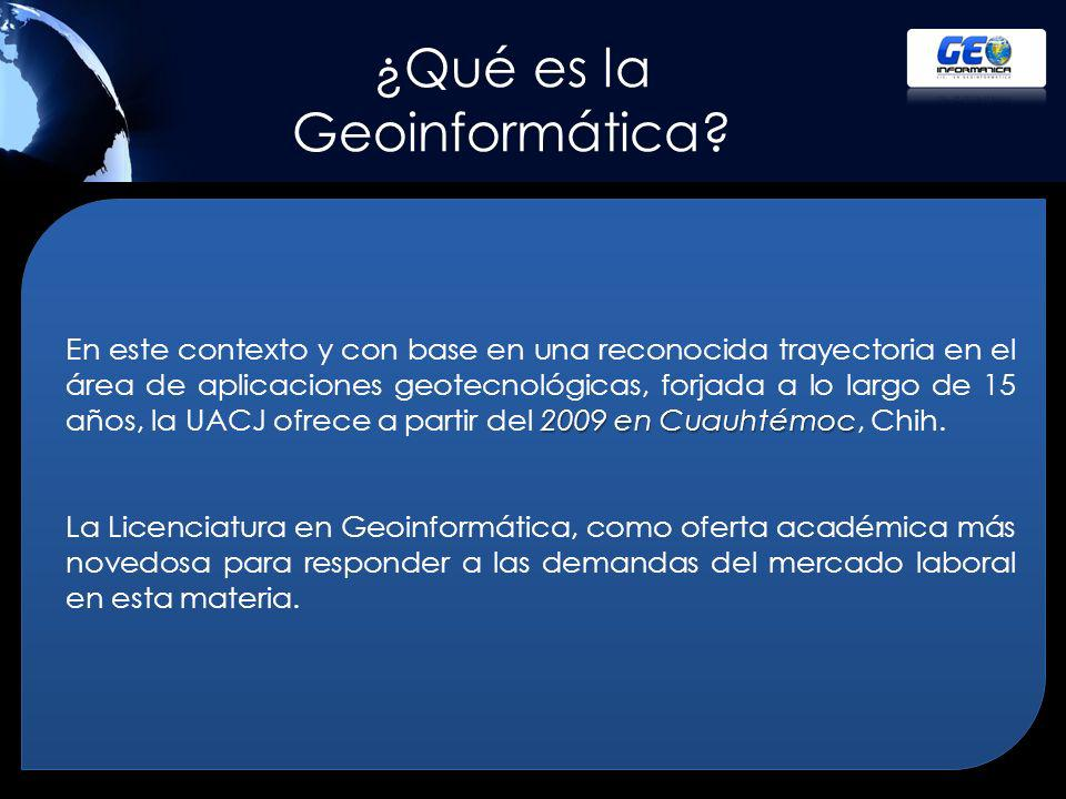 ¿Qué es la Geoinformática