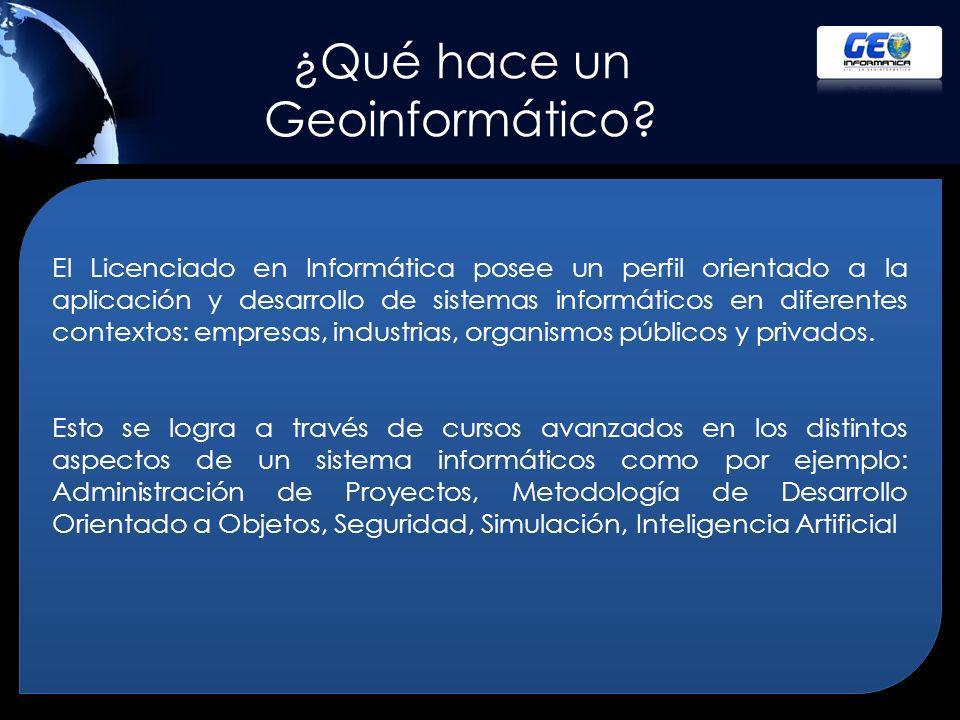 ¿Qué hace un Geoinformático
