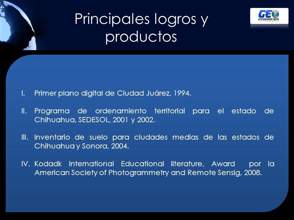 Principales logros y productos