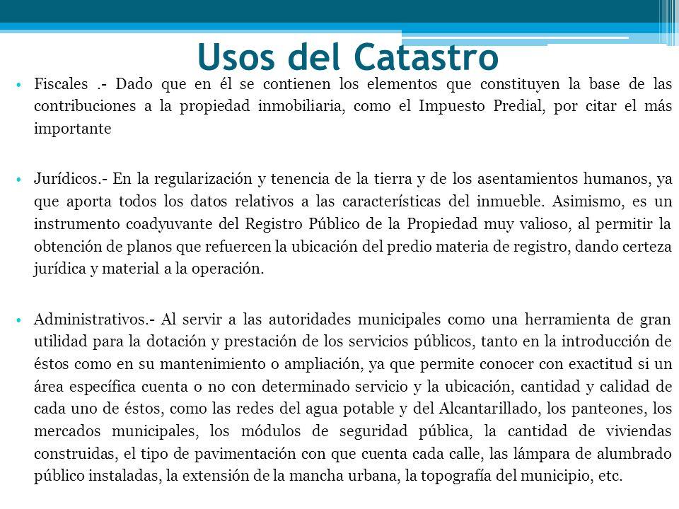 Usos del Catastro