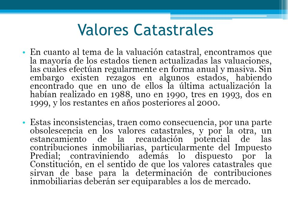 Valores Catastrales