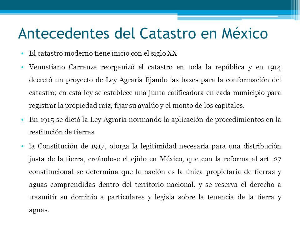 Antecedentes del Catastro en México