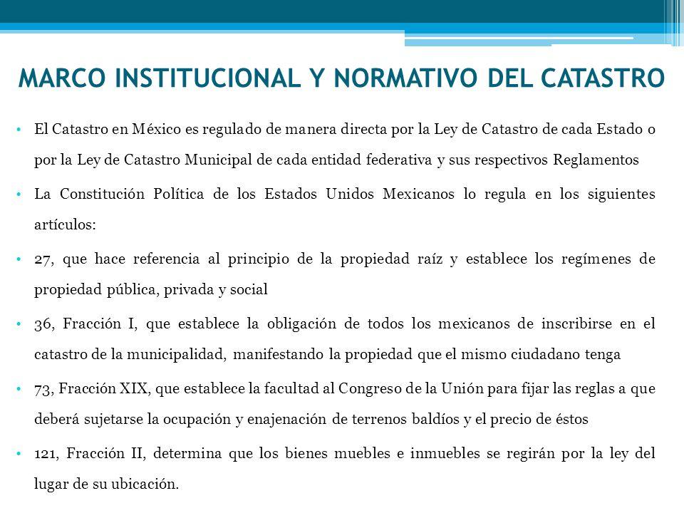 MARCO INSTITUCIONAL Y NORMATIVO DEL CATASTRO