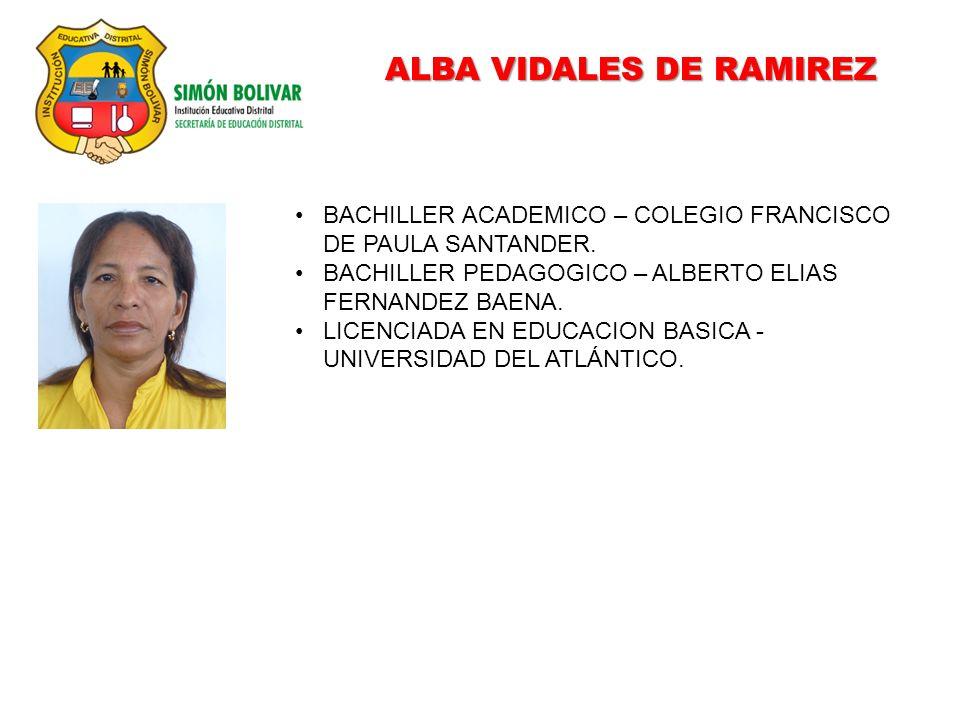 ALBA VIDALES DE RAMIREZ