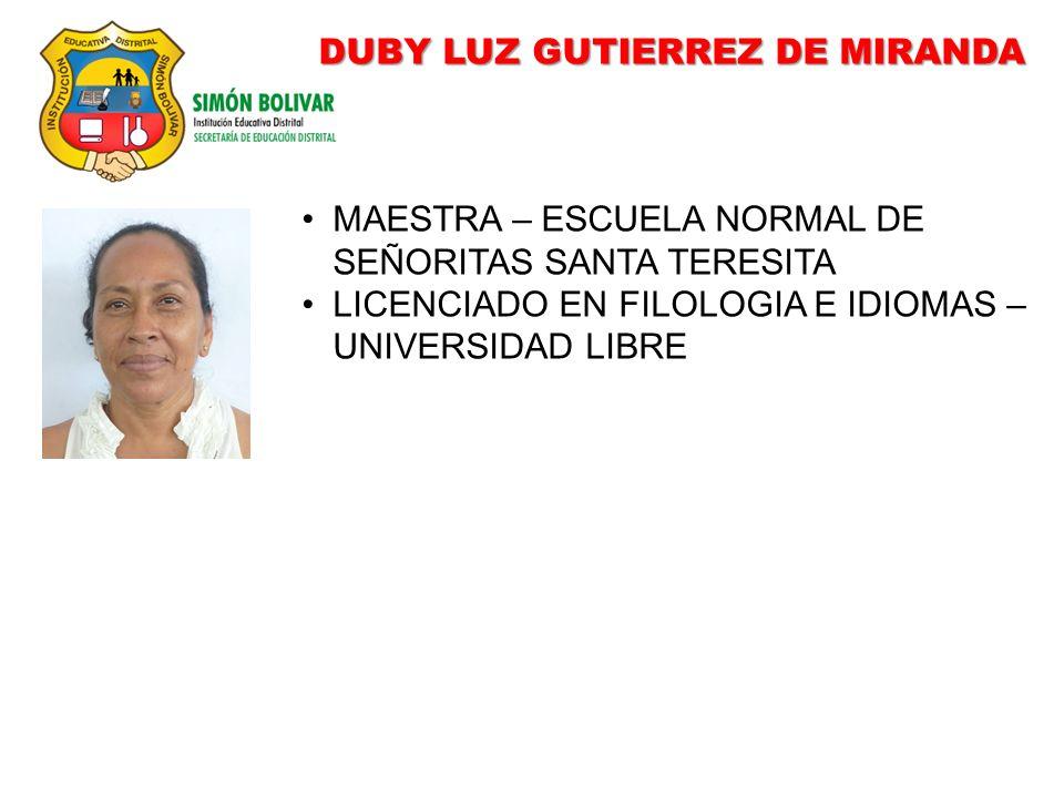 DUBY LUZ GUTIERREZ DE MIRANDA
