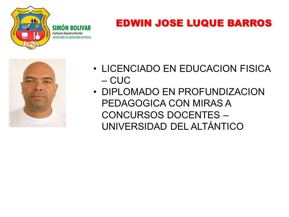 EDWIN JOSE LUQUE BARROS