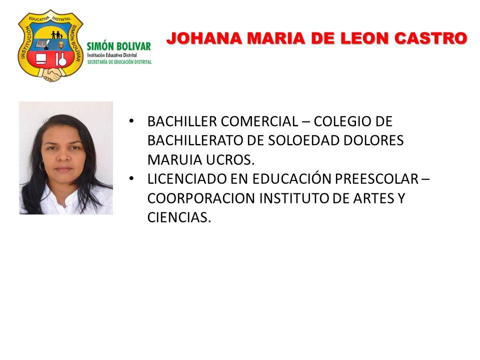 JOHANA MARIA DE LEON CASTRO
