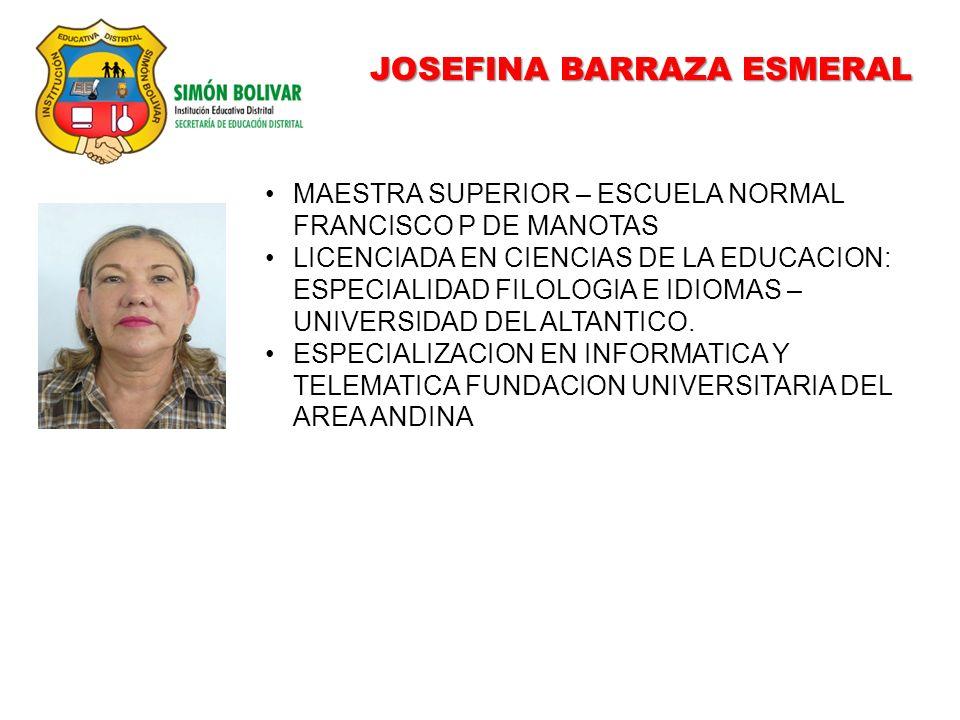 JOSEFINA BARRAZA ESMERAL