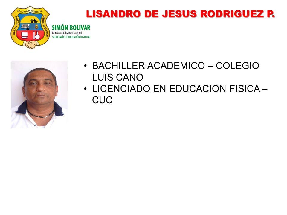 LISANDRO DE JESUS RODRIGUEZ P.