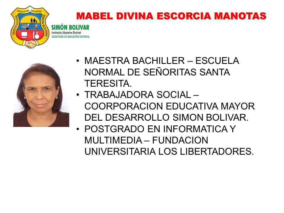 MABEL DIVINA ESCORCIA MANOTAS