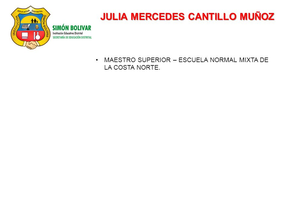 JULIA MERCEDES CANTILLO MUÑOZ