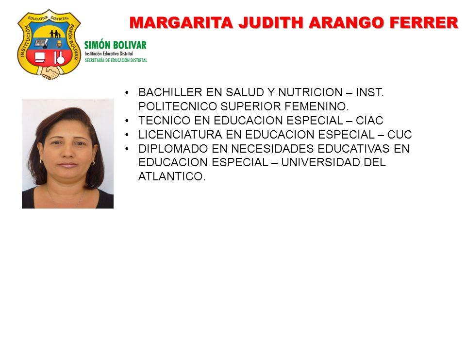 MARGARITA JUDITH ARANGO FERRER