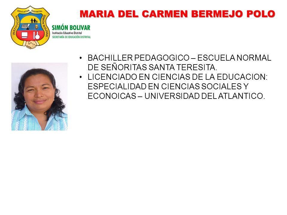 MARIA DEL CARMEN BERMEJO POLO