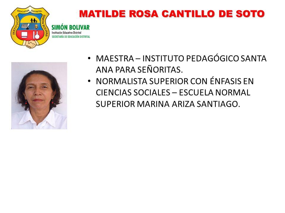 MATILDE ROSA CANTILLO DE SOTO