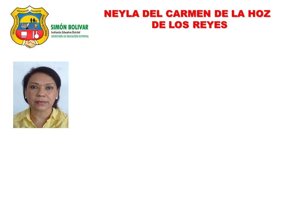 NEYLA DEL CARMEN DE LA HOZ