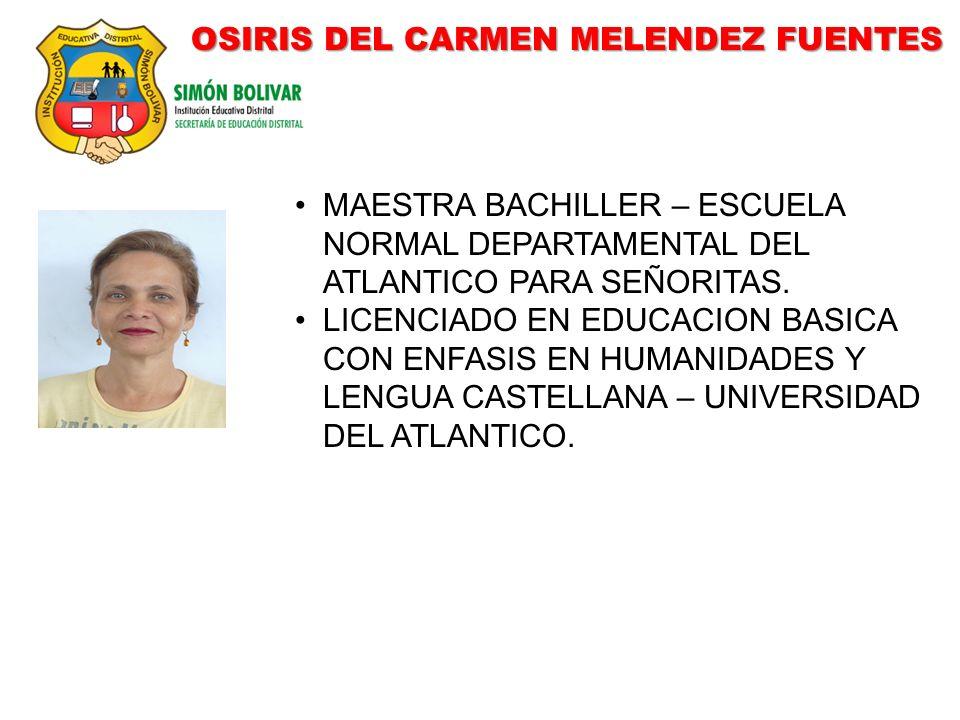 OSIRIS DEL CARMEN MELENDEZ FUENTES