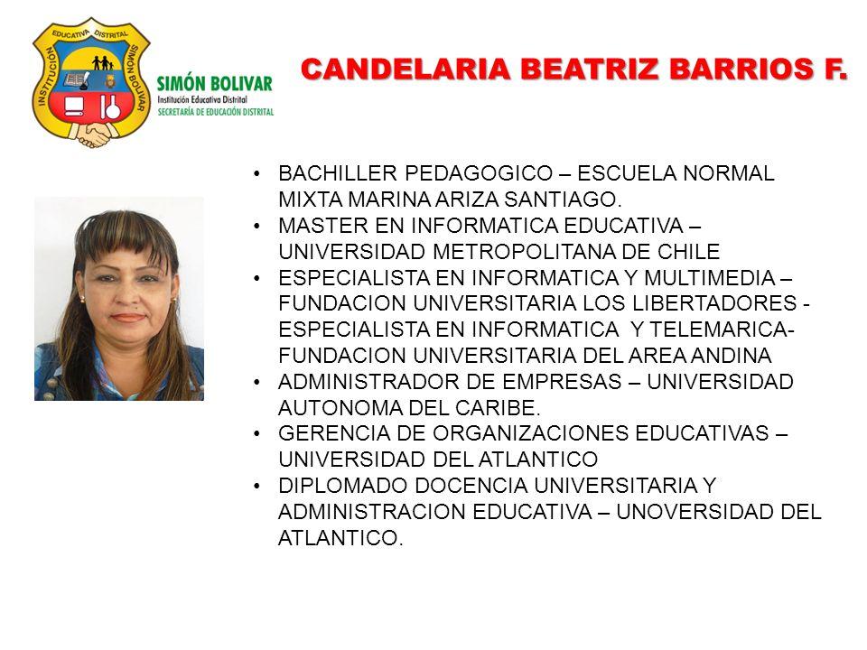 CANDELARIA BEATRIZ BARRIOS F.