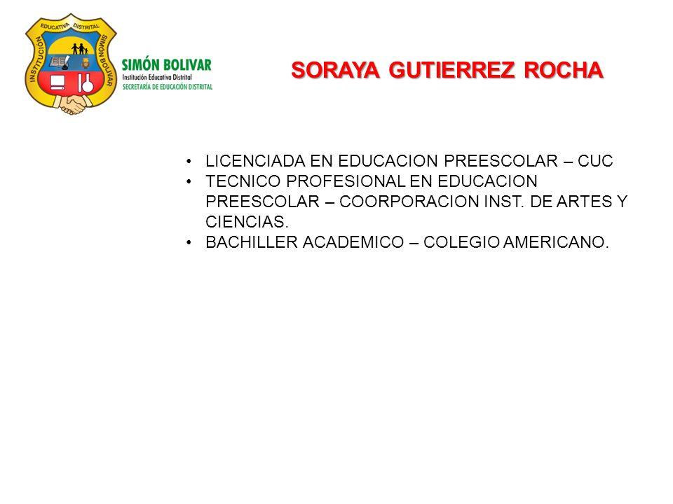 SORAYA GUTIERREZ ROCHA