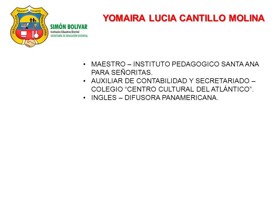 YOMAIRA LUCIA CANTILLO MOLINA