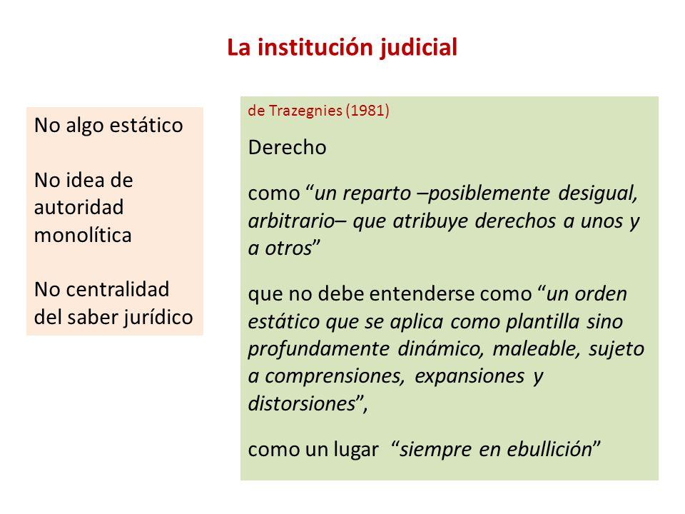La institución judicial