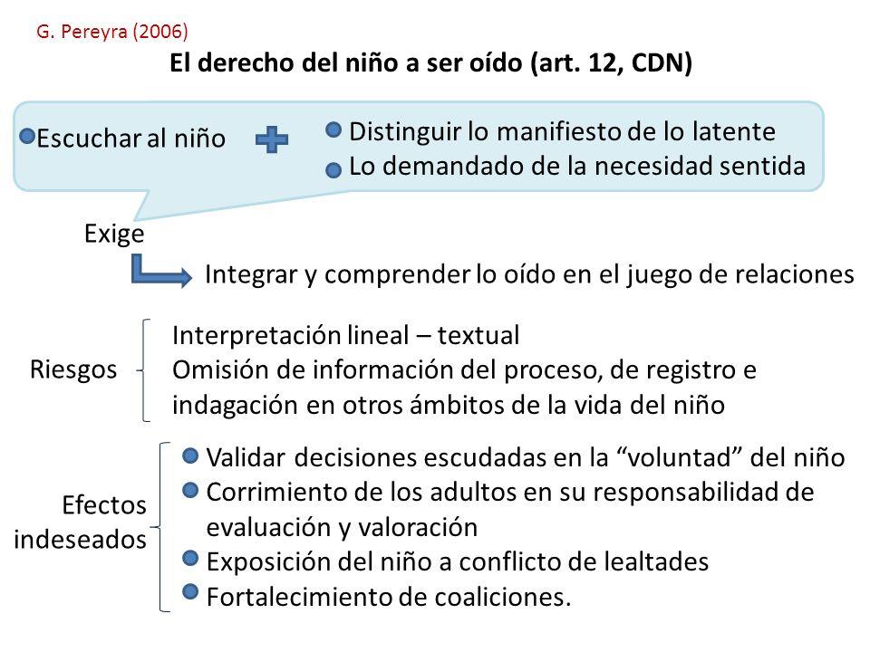 El derecho del niño a ser oído (art. 12, CDN)