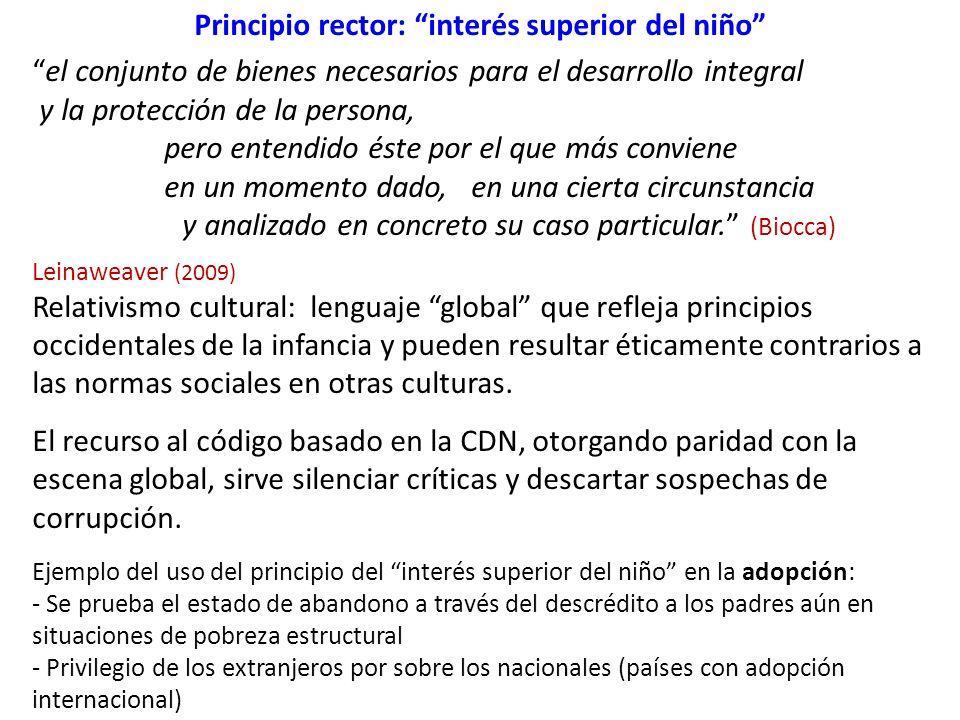 Principio rector: interés superior del niño
