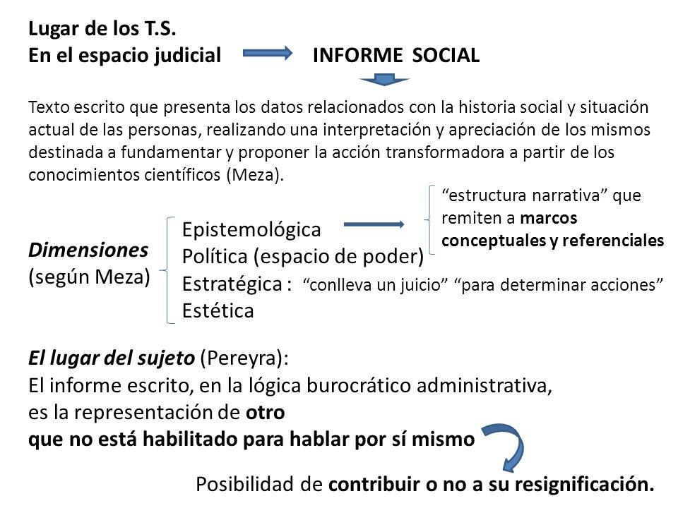 En el espacio judicial INFORME SOCIAL