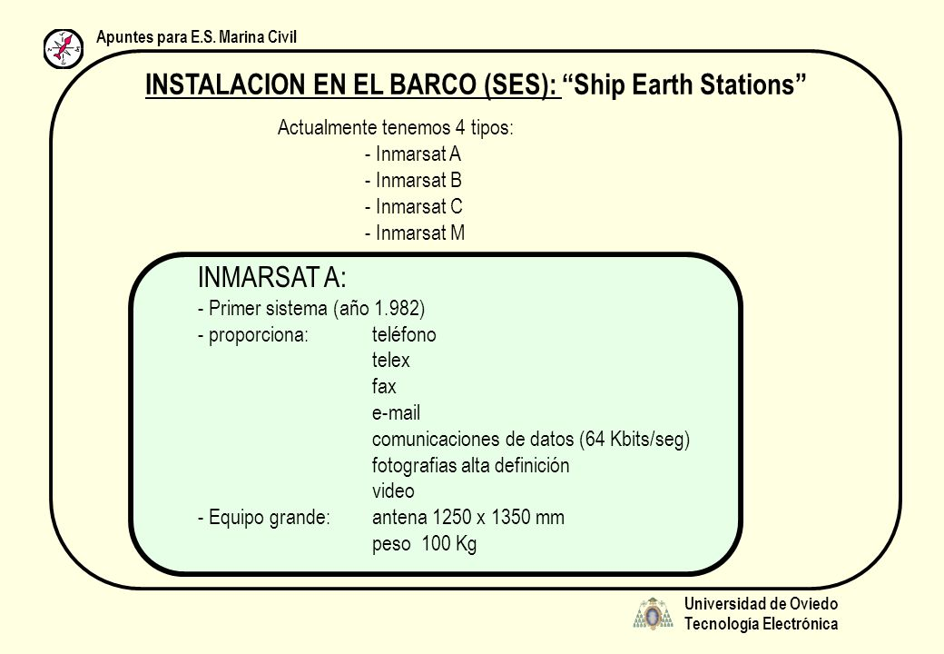 INSTALACION EN EL BARCO (SES): Ship Earth Stations