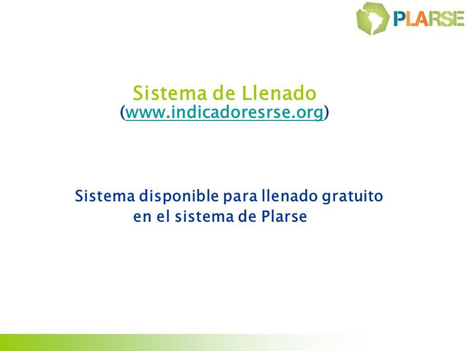 Sistema disponible para llenado gratuito en el sistema de Plarse