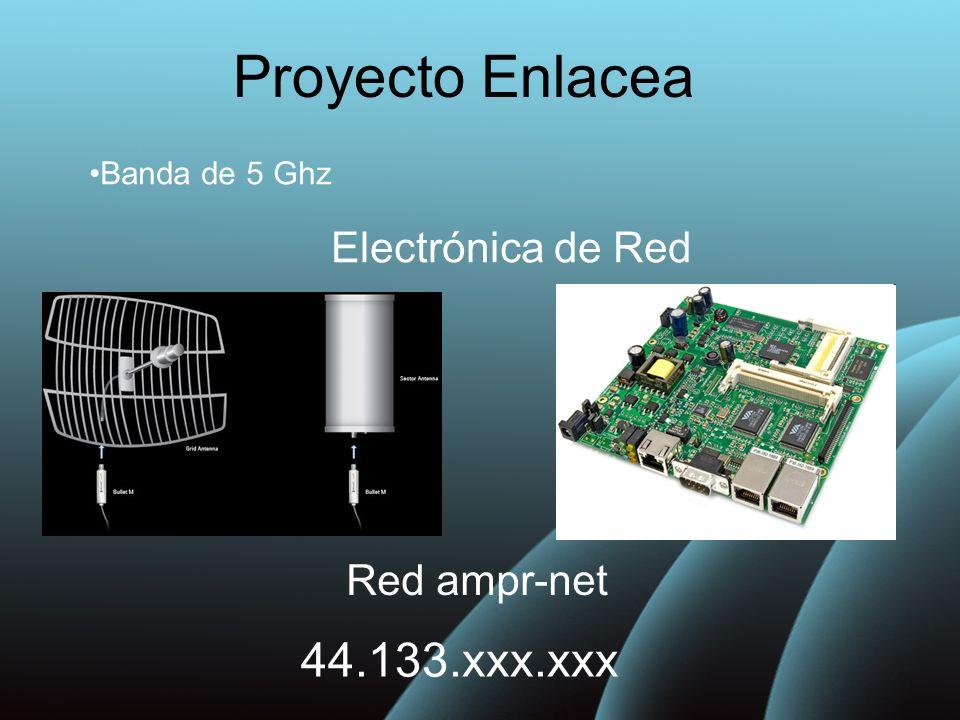 Proyecto Enlacea 44.133.xxx.xxx Electrónica de Red Red ampr-net