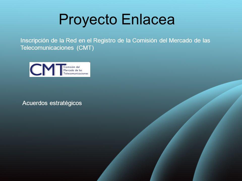 Proyecto Enlacea Inscripción de la Red en el Registro de la Comisión del Mercado de las Telecomunicaciones (CMT)