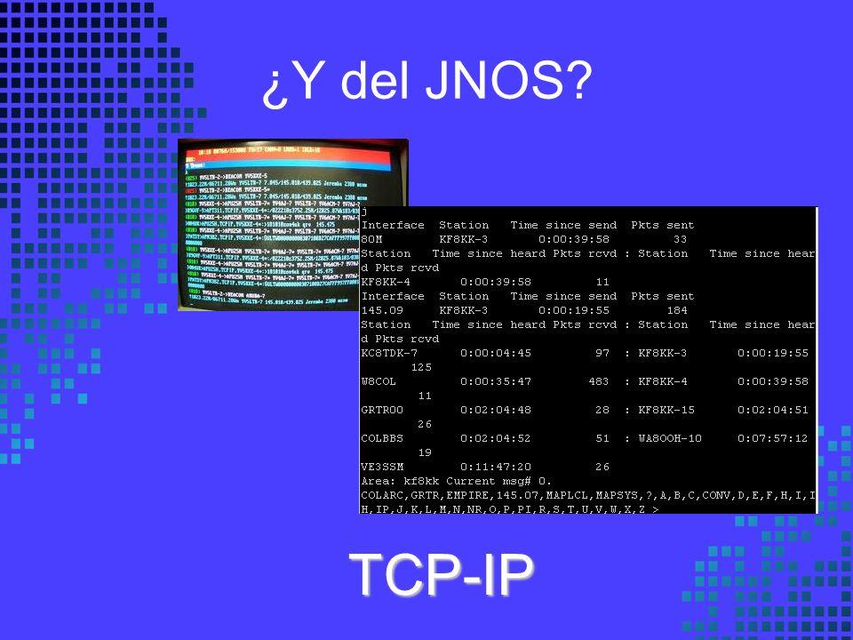 ¿Y del JNOS TCP-IP
