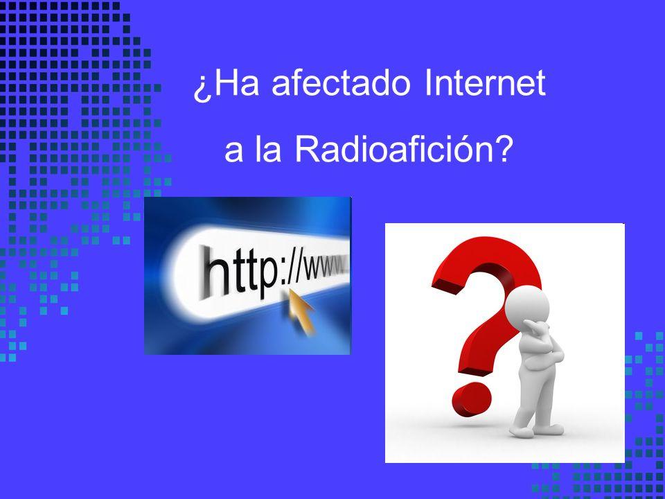 ¿Ha afectado Internet a la Radioafición
