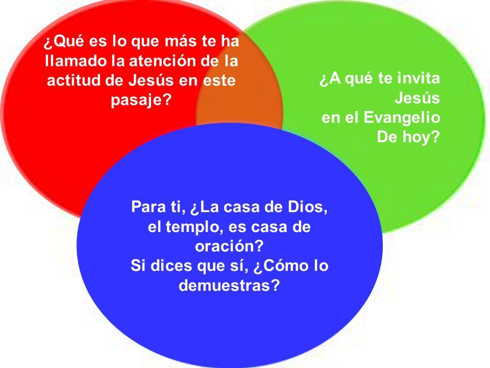 ¿Qué es lo que más te ha llamado la atención de la actitud de Jesús en este pasaje